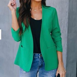 VICI Give Green a Chance pocketed blazer size S